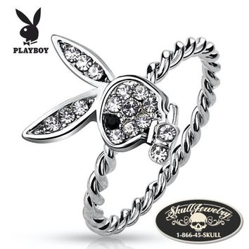 Officially Licensed 'Playboy Bunny Rope' Ring (708)