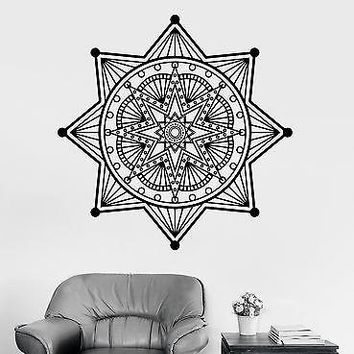 Wall Sticker Mandala Buddha Lotus Meditation Vinyl Decal Unique Gift (z2944)