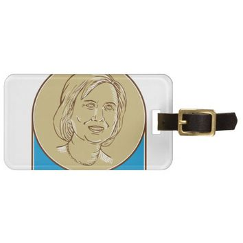 Hillary Clinton 2016 Democrat Candidate Tag For Luggage