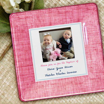 Personalized Baby Keepsake / Godparent Baby Gift / Baby Shower Decoupage Plate / Baby Baptism Invitation / Baby Wall Decor