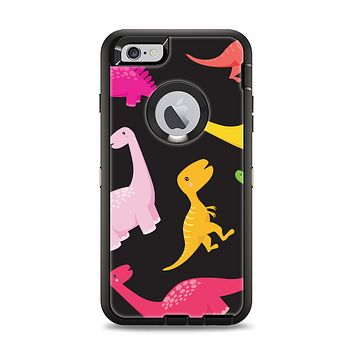 The Vector Neon Dinosaur Apple iPhone 6 Plus Otterbox Defender Case Skin Set