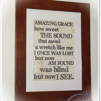 Amazing Grace how Sweet the Sound – 8×10 Inspirational Art Print