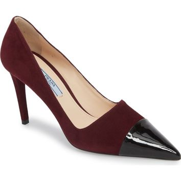 Prada Pointy Cap Toe Pump (Women) | Nordstrom