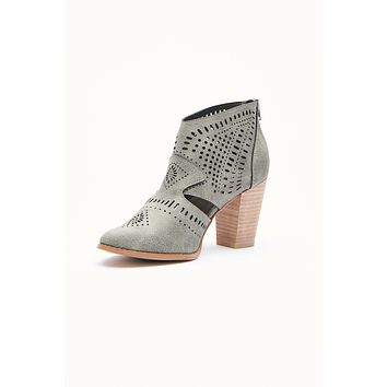 Beyond The Horizon Cut Out Booties (Grey)