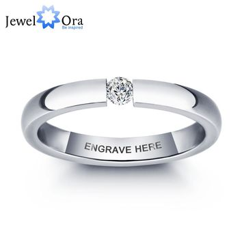 Personalized Engrave Titanium Steel Ring For Women
