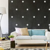 Stars Wall Decals, Wall Stickers, Stars Wall Stickers, Stars Pattern, Stars Vinyl Decal, Nursery Decal,cPattern Wall, Girl Decals, Set of 40