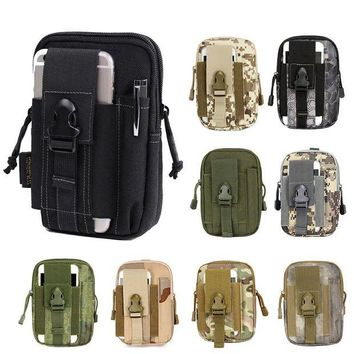 DCCK7N3 Multifunction EDC Security Pack Carry Accessory Kit Blowout Pouch Belt Waist Bag Nylon Tactical Pack for Camping Hiking Travel