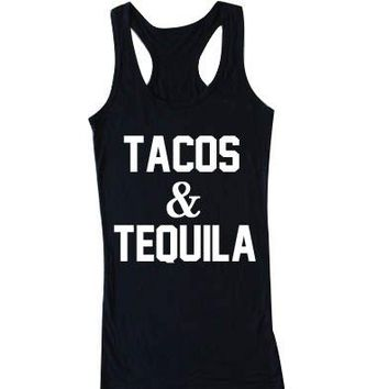 Tacos and Tequila - Women's Tank Top