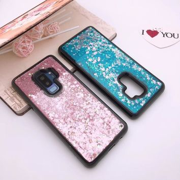 For Samsung Galaxy S9 ,S9 Plus Case New Style Smooth Flow Sand Silicone Cover Colorful  Shining Phone Case for samsung s9+
