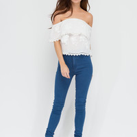 Things That Go Bloom Off-Shoulder Top