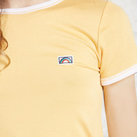 Rainbow Patch Ringer Tee