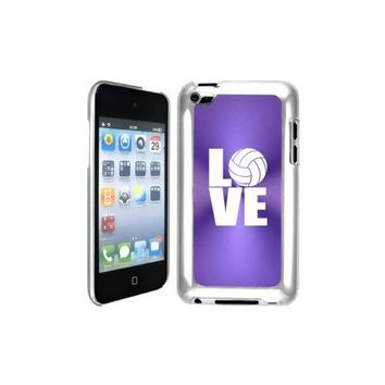 Apple iPod Touch 4 4G 4th Generation Purple B1396 hard back case cover Love Volleyball