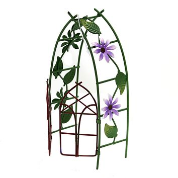 Home & Garden METAL ARBOR GATE Metal Fairy Garden Decorative 12585