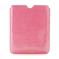 miu miu - croco-embossed ipad case