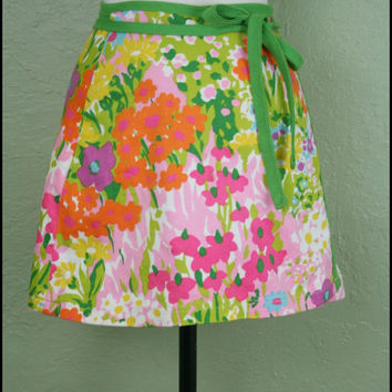 Vintage '60s Mod Floral Mini Skirt// Wrap by StoriesForBoys