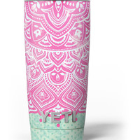 Green and Pink Tribal v3 Yeti Rambler Skin Kit