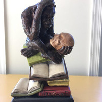 Thinker Monkey Statue,  Hugo Rheinhold's Philosophizing Monkey, Quirky Gift for Reader Friend