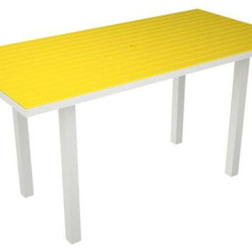 Dining Table - Yellow With White Frame
