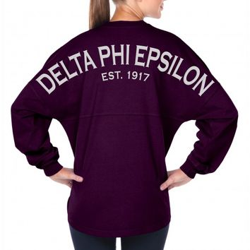 Delta Phi Epsilon Est. 1917 - Sorority Basics - Classic Spirit Football Jersey®