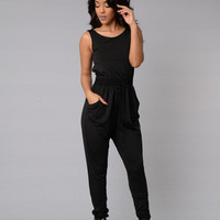 Hugs & Kisses Jumpsuit - Black