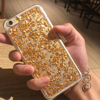 Gold Shining Case Cover for iPhone 7 iPhone 5s 5 SE 6 6S 6 Plus 6S Plus + Free Shipping + Gift Box 459