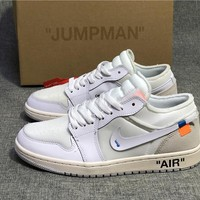 "The 10: Off-White x Air Jordan 1 Low ""White/White"""