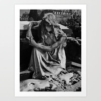 Tomb on a Graveyard Art Print by Rainer Steinke