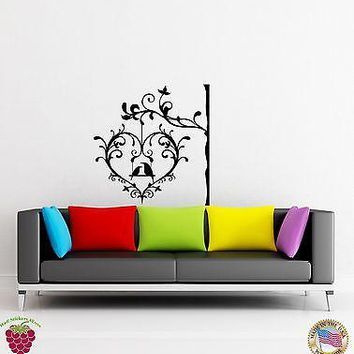 Wall Sticker Birds Tree Heart Branch Cage Decor for Bedroom Unique Gift z1317