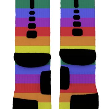 Gay Pride Flag Custom Nike Elite Socks