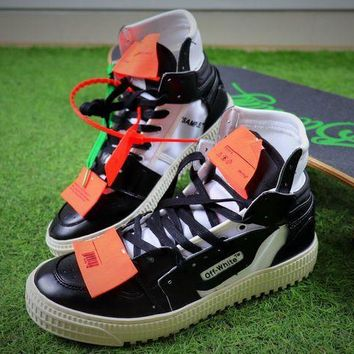 PEAP6 Virgil Abloh Design OFF-WHITE Low 3.0 Hi-Top White / Black Sneakers