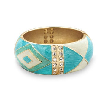 Enamel Diamond Pattern Fashion Bangle Bracelet