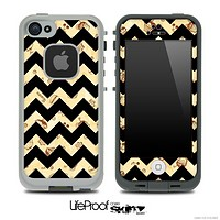 Vintage Treats and Black V6 Chevron Pattern Skin for the iPhone 5 or 4/4s LifeProof Case