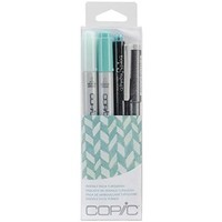 Copic Marker Doodle Pack, Turquoise