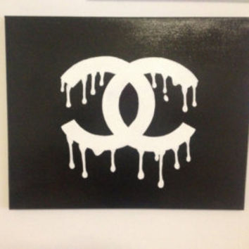 Dripping Chanel Logo Painting