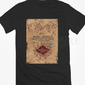 The Marauders Map of Harry Potter Unisex/Men Tshirt All Size
