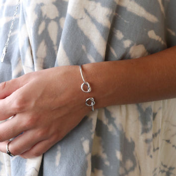 Forget Me Knot Silver Knotted Bracelet