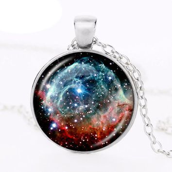 Outer Space Galaxy Pendant Necklace