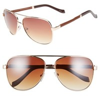Men's Icon Eyewear 'Asher' 59mm Aviator Sunglasses