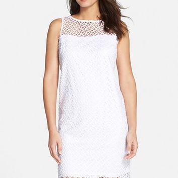 Women's Marina Illusion Yoke Lace Shift Dress,