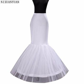 Free Shipping In Stock Wedding Dress Bridal Gown Fishtail Mermaid Wedding Petticoat Underskirt In Stock Bride Use 2018