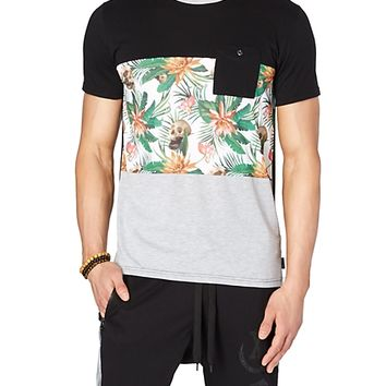 Tropical Skull Pocket Tee