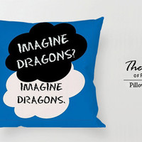 Imagine Dragons art quotes lyric - Pillow Case, Square Rectangle Pillow Case, One Side Two Side.