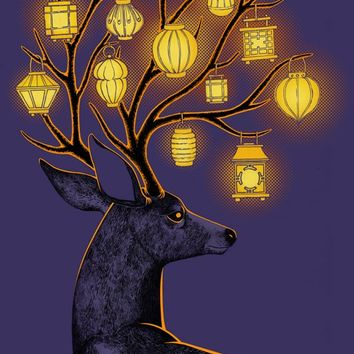 """""""Night Guide"""" - Art Print by Indré Bankauskaité"""