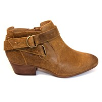 Clarks Spye Belle - Brown Leather Short Western-Style Boot
