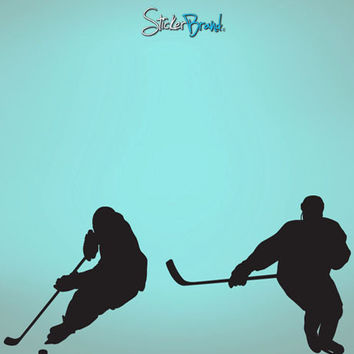 VinylWall Decal Sticker Hockey Players Duel #561