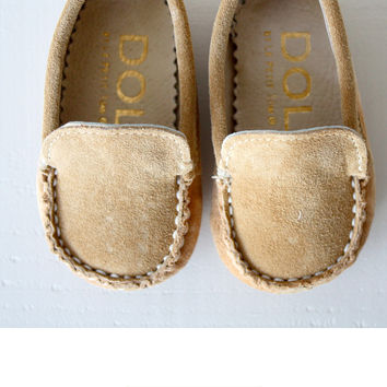 DOLLY by Le Petit Tom ® BABY MOCCASIN 6MO cappuccino
