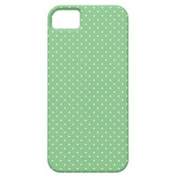 Grass Green And White Polka Dots iPhone 5 Cases