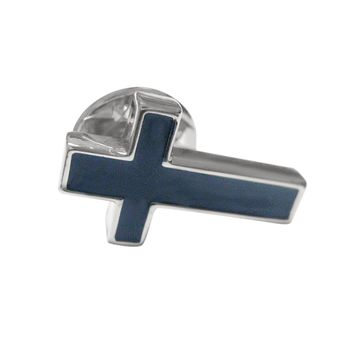Black Cross Religious Lapel Pin
