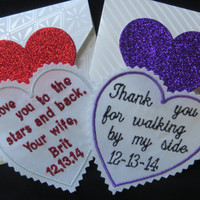 Custom Embroidered Wedding Tie Patch. Set of TWO. Father of the Bride Gift. Uncle Gift. Stepdad Gift. Brother Gift. Wedding gifts ideas. Tie