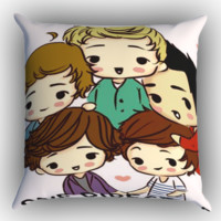 One Direction Zippered Pillows  Covers 16x16, 18x18, 20x20 Inches